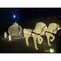 Quality led outdoor christmas decoration horse carriage for sale