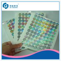 Quality Custom Made Void Laser Printing Labels On Sheets , Company Logo Stickers for sale