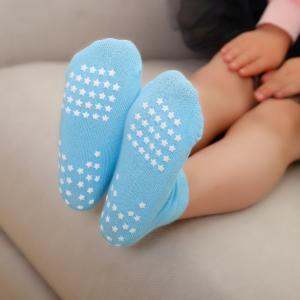 Quality Fashionable Knitting Slip Resistant Socks , Jacquard Logo Non Slip Dance Socks for sale