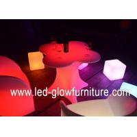 Quality Flower shape illuminated cocktail table cubes / led coffee tables with lights for sale