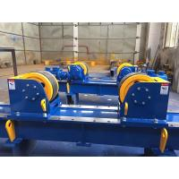 Quality 5T 10T 20T Bolt Adjustment Tank Turning Rolls , Variable Speed Powered Rotation Pipe Supports Stands for sale