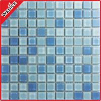 China indoor BLUE variable Glazed Ceramic Mosaic Tiles on sale
