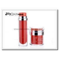 Quality PP Material Red Plastic Empty Makeup Containers Bottles Capacity 80ml for sale
