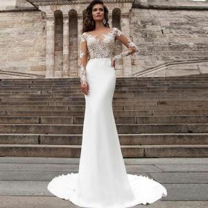 Buy Beach series button back Bohemian wedding dress Mermaid Turkey 2019 bridal gown at wholesale prices