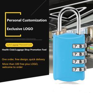 China Four - Digit Suitcase Combination Lock , Mini Combination Travel Padlock on sale
