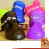 China Rubber dog shoes Water Protective Pet Shoes Booties Waterproof Rain on sale