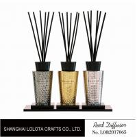Luxury Room Aromatherapy Reed Diffuser With Black Top Cover , Screen Printing