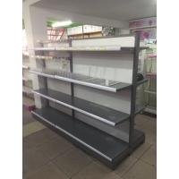 Quality Double Sided Metal Supermarket Shelf Store Retail Fixture Shop Display Rack for sale