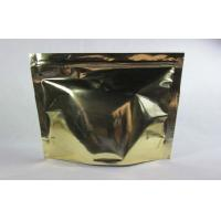 Quality Aluminum Foil Coffee Bag Packaging Zipper Top Gravure Printing , One Side Clear for sale