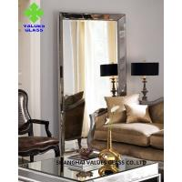 Quality Modern Large Frameless Mirror , Silver Full Length Mirror With Clear Surface for sale