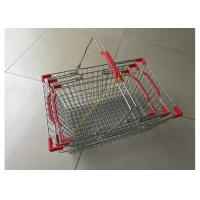 Quality Steel Chrome Plated Supermarket Metal Wire Hand Held Shopping Baskets With Double Handles for sale