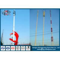 Buy cheap Polygonal Telecommunication Steel Pole Tower With Inner Flange Connection from wholesalers