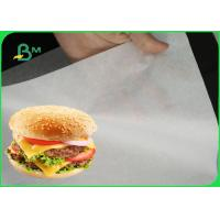 Quality 35gsm White Greaseproof Paper Roll / Natural Food Wrapping Paper For Burger Wrapping for sale