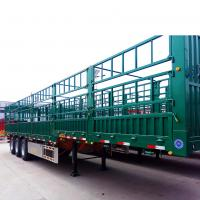 Quality 3/4 Axles 40ft Side Wall Heavy Duty Semi Trailers / Low Bed Semi Trailer Truck for sale