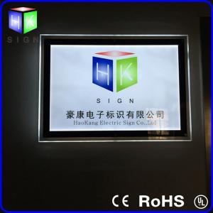 Quality Rectangle Wall Crystal LED Light Box / Aluminum Frame Light Box Supler Thin for sale