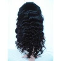 Quality Top Quality Fashion 20inch 100% Human Hair Natural Black Body Wave Woman Full Lace Wig for sale