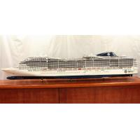 Quality Professional Reproduction MSC Divina Cruise Ship Models With Woodiness Hull Material for sale