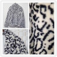 China Womens Faux Fur Jacket , Water Resistant Fake Fur Leopard Coat on sale