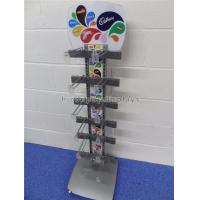 China Freestanding Metal Chocolate Sweet Display Stand 12 Hooks For Snacks Store on sale