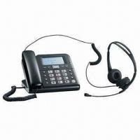 Quality Single-line Caller ID Phone with Headset, Speed-dial and IP Service, Ideal for Business Usage for sale