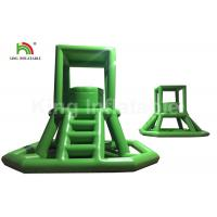 Quality Green 16.41 FT Inflatable Water Toy PVC Climbing Lifeguard Tower With Ladder for sale