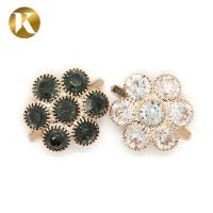 Quality Custom Decorative Shoe Clips , Flower Shape Shoe Accessories Clips for sale