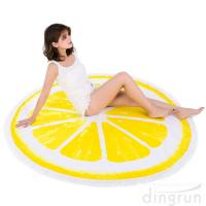 China Round Beach Towel Beach Blanket Large Microfiber Towels Yoga Mat With Tassels on sale