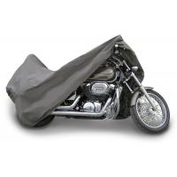 "3 Layer Material Waterproof Motorcycle Cover 96"" Long Gray Color Fade Resistant"