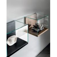 China Wall Mounted Retail Display Cases , Small Wood And Glass Display Case Nest Wall Version on sale