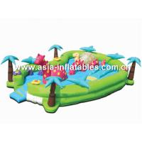 China Inflatable Fair Land With Palm Tree Model For Kids Amusement Games on sale