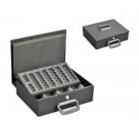 Quality OEM Service Metal Cash Box Euro Coin Collection With Removable Coin Tray for sale