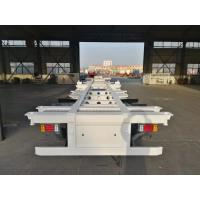 Quality 2 Axle Container Skeleton Heavy Duty Semi Trailers With Led Light for sale