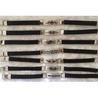 China Greek Alphabetic Tag Stainless Steel Bangle Bracelets With Watch Clasp on sale