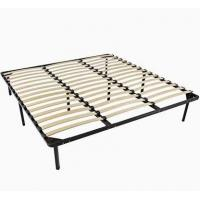 Quality Carbon Steel Metal Bed Frame With Slats , Simple Double Mattress Frame Bedstead for sale