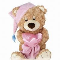 Quality Stuffed Teddy Bear Plush Toy with Hat, ODM/OEM Orders are Welcome, Available in Various Designs for sale