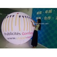 Quality Glow / Flash Flying Helium Balloon Lights PVC Logo Outside Spheres Advertising Inflatable for sale
