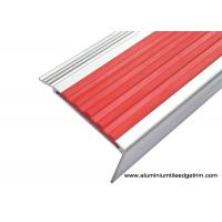 Highly Robust Aluminum Stair Nosing , Metal Stair Edge Trim With PVC Inlay