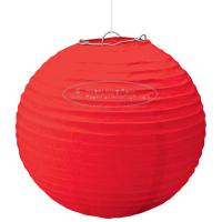 Quality Solid Color Round Paper Lanterns For Party , Hanging Paper Lanterns Dia 10cm -20cm for sale
