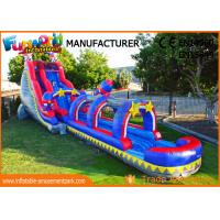 Quality Silk Printing Commercial Banzai Inflatable Water Slides For Outdoor Entertainment for sale