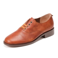 Buy cheap HZM032 Cowhide Women'S Single Shoes Autumn And Winter New British Style Women'S from wholesalers