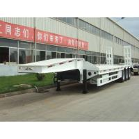 China 50 ton low bed Semi-trailer with tri-axle excavator trailer. low loader on sale