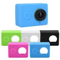 Quality Action Camera Accessories Silicone Protective Case Cover Skin + Lens Cap For Xiaomi YI Sport Camera for sale