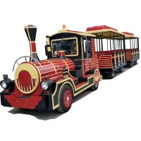 Quality CE Certificate Theme Park Electric Train For Kids With Durable FRP Material for sale