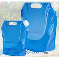 1 Gallon 4L foldable plastic bottle bag Foldable water bag,logo printed foldable water bottle bag,Reusable Outdoor Water