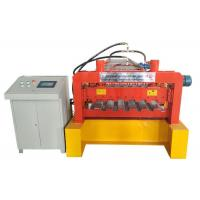 Quality Galvanized Steel Deck Forming Machine , Floor Tiles Manufacturing Machines Chain Size 2 Inch for sale