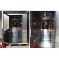 Quality Hospital Stainless Steel Cleanroom Air Shower , Nozzle Air Flow 25m/s for sale