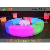 Quality PE LED Bar Stool / Bench Curved Durable For Outdoor / Indoor for sale