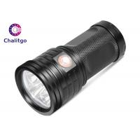 Quality T6 Hunting High Lumen Flashlight , Rechargeable LED Flashlight Black Outdoor for sale