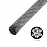 Buy Strong Vinyl Coated Wire Rope , Steel Security Cable 7x19 0.9mm-50mm Wire Gauge at wholesale prices