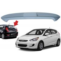 Quality Hyundai Accent Hatchback 2010 2015 Car Roof Spoiler ABS Material 136*18*32cm Size for sale